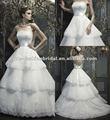 Satin WH031 2013 sans bretelles à l'intérieur de lacet plus d'avec la robe 2013 de mariage posée par Sash de nouveau model de jupe de satin
