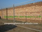 hot sale canada portable movable fencing/welded wire mesh temporary fence net(electric galvanized and pvc powder paint)