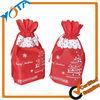 Hot sale printed christmas drawstring gift bag
