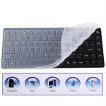 87-Key Slim Portable Bluetooth Wireless Keyboard with Silicone Protective Film (Black)