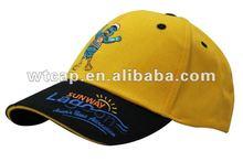 cartoon embroidery hats sports baseball cap printed sandwich