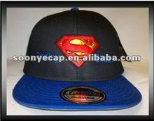 """custom """"super man"""" 3d embroidery snapback cap"""
