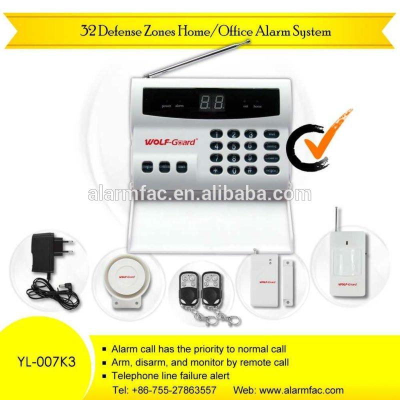 32 zona de defensa inalámbrica automática - dial sistemas de alarma para la biblioteca/banco/financialoffice ( yl - 007k3 )