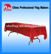 Fancy custom advertising printed fabric table skirts