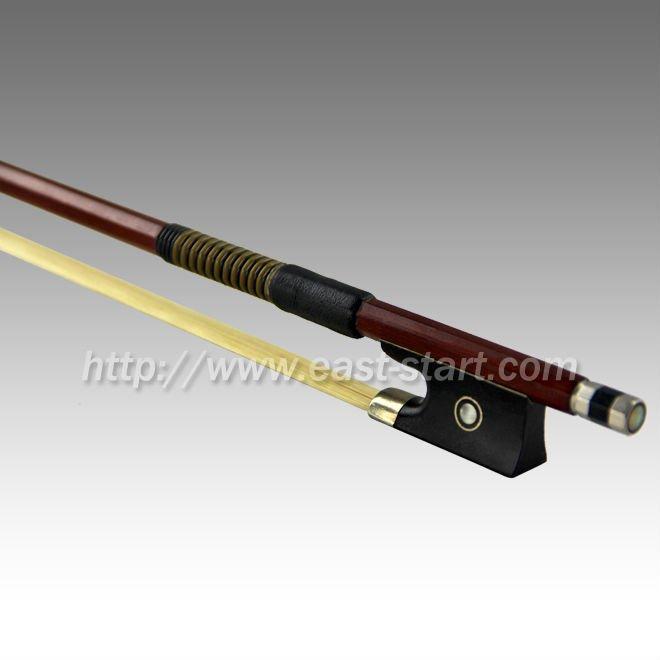 Quality brasil violino arco de madeira
