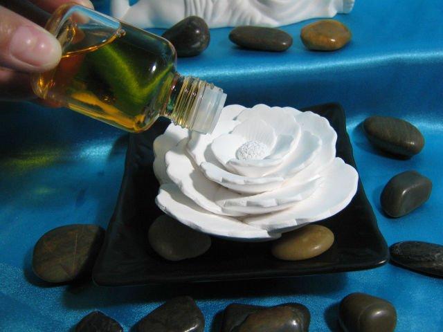kokulu parfüm taşı difüzör Seramik çiçek gül Plakaile