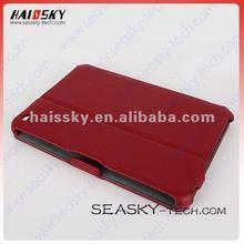 Red PU leather case for Ipad Mini