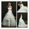 2013 new hot selling ruffles design light sweetheart ball gown wedding dress