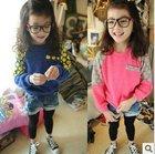2014 Spring new korean style versatile fashion knitted girls' sweater,long sleeve kid sweater