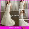 Trumpet Chapel Train Taffeta and Organza Ruffled One Shoulder Wedding Dresses 2012