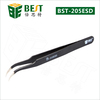 BEST-ESD-15 Stainless curved tweezers eyelash extension