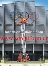 12V Mobile telescopic electric boom lift/lifting machine