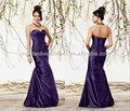 nuevo modelo de color púrpura oscuro escote corazón forma de sirena plisado corpiño drapeado bubble hem falda 2013 nuevo modelo vestidodenoche