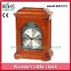 Aluminum dial wooden quartz antique table clock