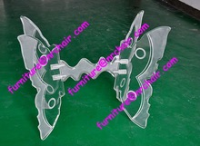 shanghai commercial furniture wholesale wedding acrylic butterfly curved furniture table leg