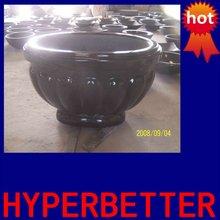Black granite flower pot,stone garden flower pots