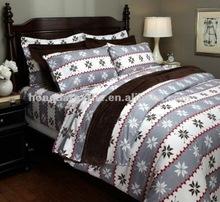 100% Cotton winter snowflake printed christmas bedding