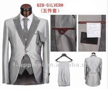 2012 latest slim style suits for men