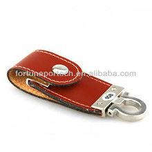 2gb 4gb custom imprint leather usb flash drive OEM bulk cheap
