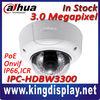 dahua hdbw3300 vandal-proof ip66 ir dome ip camera hd 1080p 3megapixel poe network security ip cameras hikvision onvif