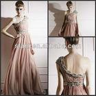 NDT-025 2013 New Arrival Best Design One-shoulder Open Back Chiffon Pakistani Ladies Dresses 2012