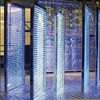 curved flashing glass, colorful led glass, led light with glass for bricks