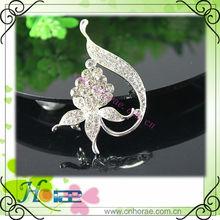 fashion cheap flower rhinestone brooch for ladies