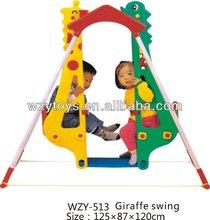 Double seats giraffe swing