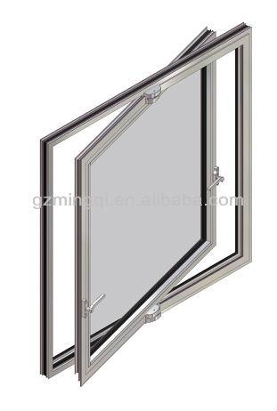 Alluminio orizzontali finestra a bilico vetrino id for Finestre a bilico verticale
