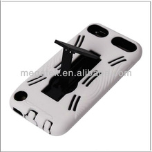 for ipod case , phone case 2 in 1kickstand silicone pc hard case for ipod touch 5