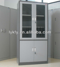 Kefeiya Gray Office Modern Glass Display Cabinet KFY-CB-02