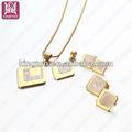 18k collares de oro pendientes& fijado para las niñas