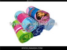 Assorted Patterns Baby Fleece Blanket for Promotion