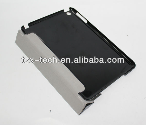 TZX magnetic 3 folded smart cover case for ipad mini