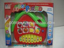 New product novelty battery operated cartoon fruit piano educational toys
