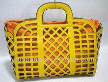 2012 hot sale fashion handbag nice quality perforated holes lady bag