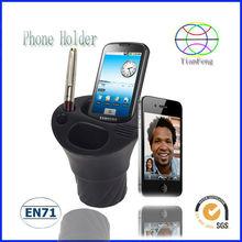 black soft PU car phone holder mobile phone holder