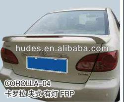 Fibergalss material Spoiler for Toyota Corolla 2005