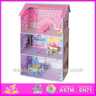 2014 Hot selling Wooden toy doll house,wooded toy Doll house&accessories with good quality W06A018