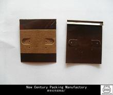 Brown Velvet Custom Printed Earring Display Card