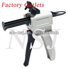 50 ml 4:1 / 10:1 Dental Silicone dispenser, Plástico Dispenser para dispensar Dental temporária crown & bridge materiais