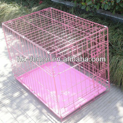"""Hot sale 42"""" Pink Folding Wire Cage"""
