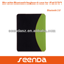 wireless ultra thin keyboard case for iPad 2/3/4 and iPad Air