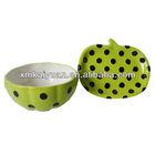 Novelty unique ceramic soup bowl and plate