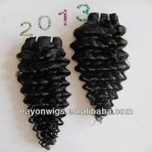 2012 factory price 100% virgin deep wave human hair weave pictures
