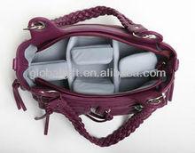 women stylish dslr leather camera shoulder bag