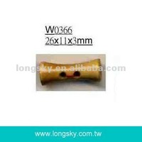 (#W0366) Small drum clothing wooden toggle coat buttons