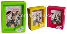 cheap plastic picture frame souvenir square 2x2 photo frame