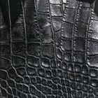 PVC light black crocodile embossed leather Plastic Chair Seat Covers