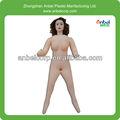 Full tamanho da boneca sexual inflável com preto cabelo curvas/silicone cabeça mão e pés